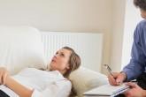 Woman seeking help for bipolar disorder