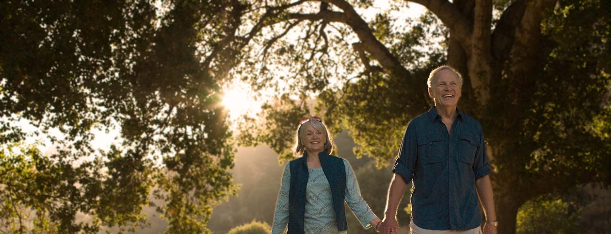 Elderly couple enjoying life after marriage counseling