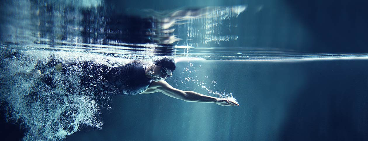 Swimming at full physical potential after physiotherapy
