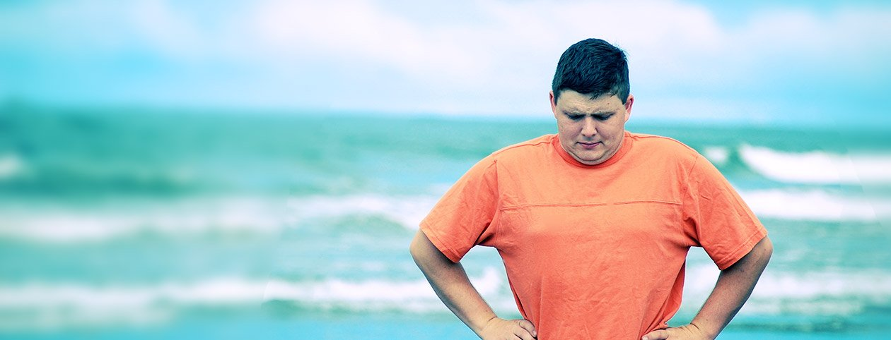 Man Deciding How to Lose Weight Quick