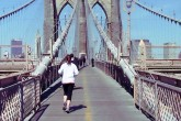 Woman running at one of the best weight loss camps in new york