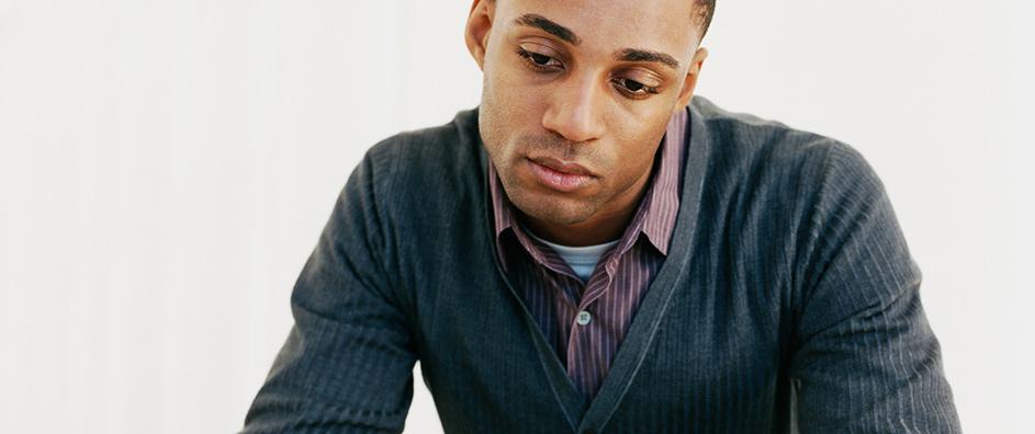 Man experiencing manic depression syptoms