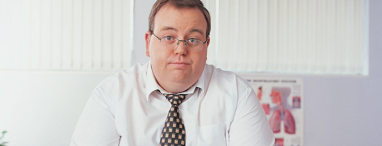 Overweight Man waiting for gastric sleeve surgery