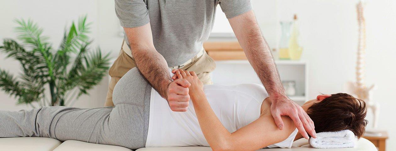 Best chiropractor in seattle stretching patient