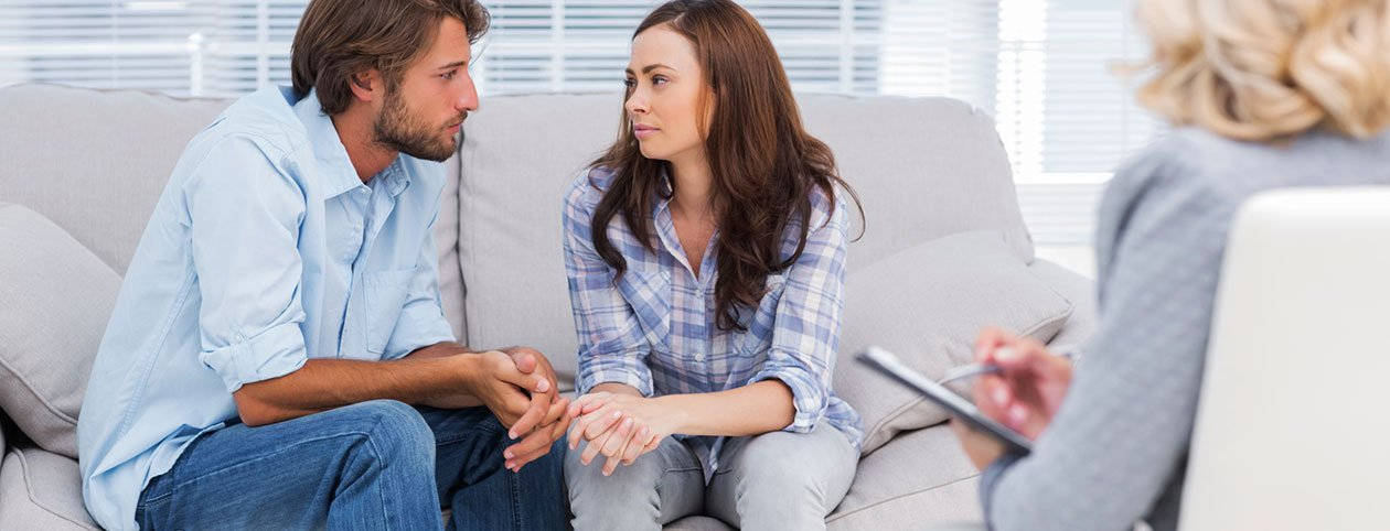 Couple asking questions to ask a marriage counselor