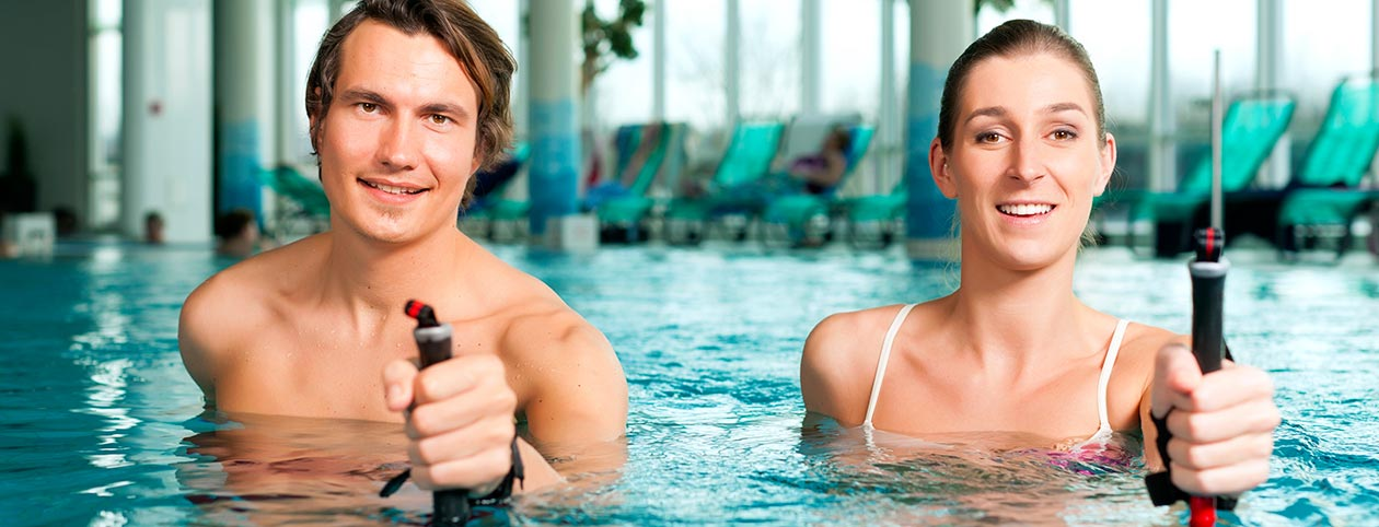 Couple experiences benefits of aquatic therapy
