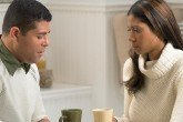 Couple asking marriage counseling questions