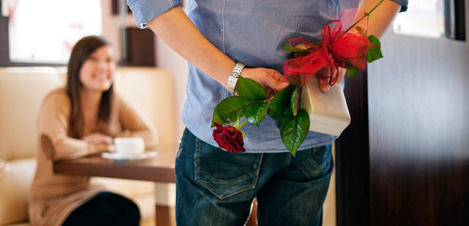 Husband surprising wife with gift to help marriage