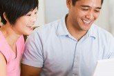 Married couple seeking marriage advice tips online