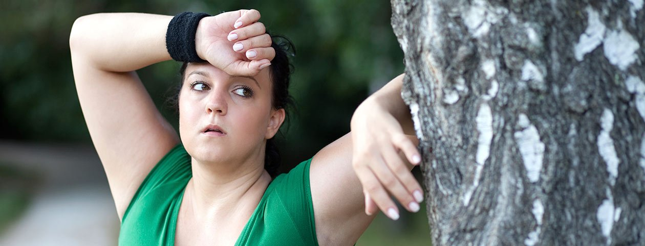 Woman finding motivation to lose weight