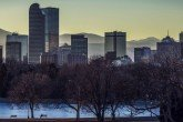 Skyline of Colorado with higher depression rates