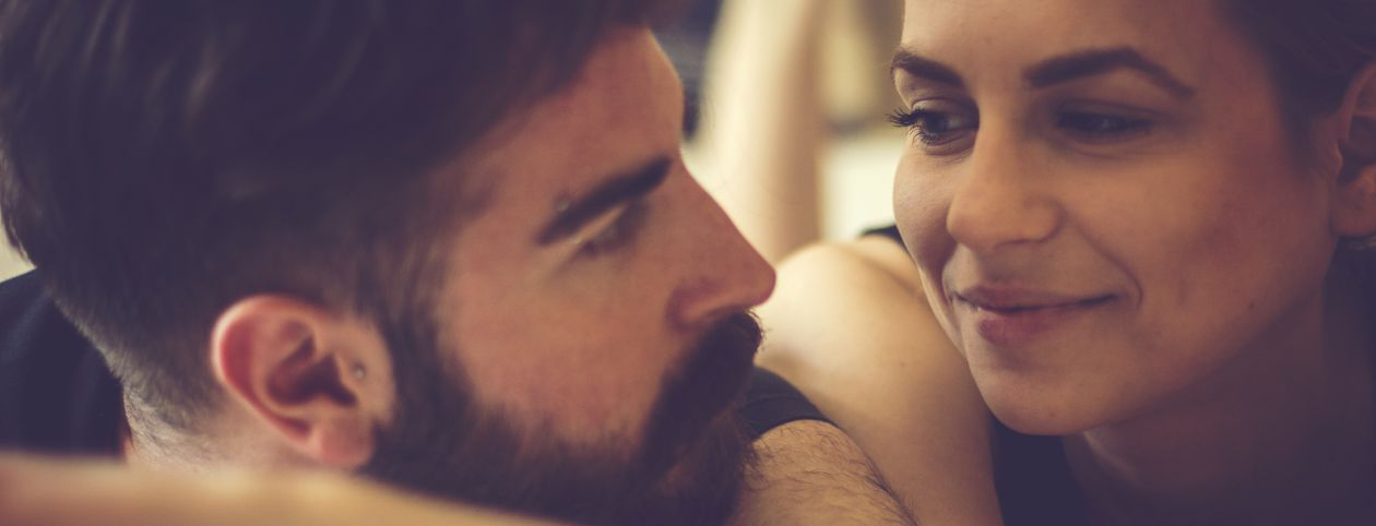 Couple having spiritual sex between soulmates