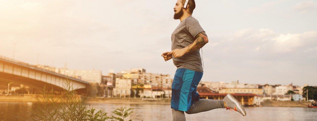 Man running that has an eating disorder